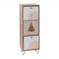 Caseta decorativa, MDF, cu 3 sertare, Koopman MC5557070, 13 x 11 x 32 cm
