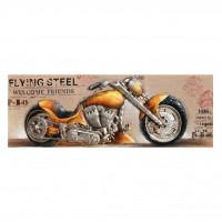 Tablou canvas F530A, Motocicleta, efect 3D, panza + sasiu lemn, 150 x 50 cm