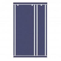 Dulap dormitor D9A, textil, albastru, cu fermoar, 110 x 45 x 175 cm, 1C