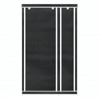Dulap dormitor D9N, textil, negru, cu fermoar, 110 x 45 x 175 cm, 1C