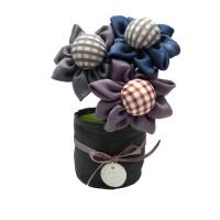Decoratiune parfumata, Aroma  Land 6426495550624, 3 flori textile, carbune bambus