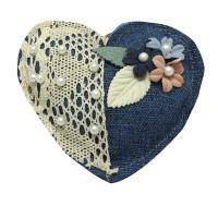 Decoratiune parfumata, Aroma Land  6426495550778, inimioara albastra, carbune bambus
