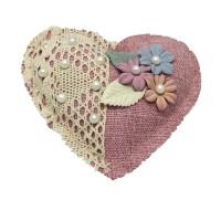 Decoratiune parfumata, Aroma Land  6426495550686, inimioara roz, carbune bambus