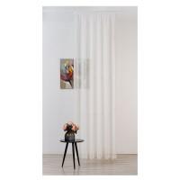 Perdea Mendola Fabrics, model Cosenza, Quadra, batist, alb, H 280 cm