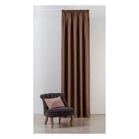 Draperie Mendola Fabrics, model Maze, Monograma, jacquard, maro, opac, H 295 cm