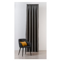 Draperie Mendola Fabrics, model Maze, Monograma, jacquard, gri, opac, H 295 cm
