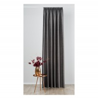 Draperie Mendola Fabrics, model Tempera, Axioma, catifea, gri, opac, H 280 cm