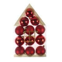 Globuri Craciun, rosii, diametru 6 cm, set 12 bucati, N12/6012ABY