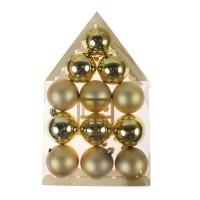 Globuri Craciun, aurii, diametru 6 cm, set 12 bucati, N12/6012ABY