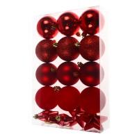 Globuri Craciun, rosii, D 6 cm, set 16 bucati, N3/XL16ARYA
