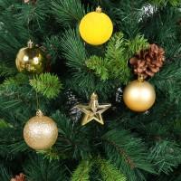 Globuri Craciun, galben + auriu, diametru 6 cm, set 16 bucati, N3/XL16ARYA/G