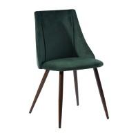 Scaun bucatarie / living fix Smeg, tapitat, metal maro + material textil verde