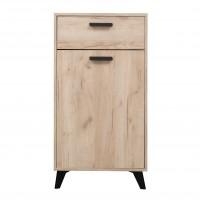 Comoda hol Umbria 1K1F, cu usa + sertar, stejar gri, 53.5 x 35 x 100 cm, 1C
