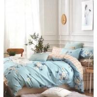 Lenjerie de pat pentru 2 persoane, 100 % bumbac satinat, 4 piese, multicolor