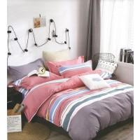Lenjerie de pat Alma, 2 persoane, microfibra, 4 piese, multicolor