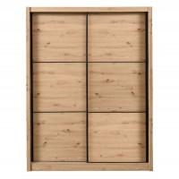 Dulap dormitor Navara 165, stejar artisan, 2 usi glisante, 166 x 60 x 215.5 cm, 7C