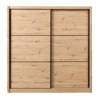 Dulap dormitor Navara 215, stejar artisan, 2 usi glisante, 213 x 60 x 215.5 cm, 7C