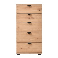 Comoda dormitor Duero 5F 45, cu 5 sertare, stejar artisan, 45 x 95 x 40 cm, 1C