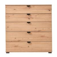 Comoda dormitor Duero 5F 90, cu 5 sertare, stejar artisan, 90 x 95 x 40 cm, 1C