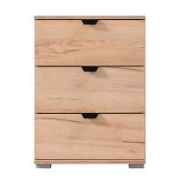 Noptiera Duero 3F, cu 3 sertare, stejar artisan, 45 x 63 x 40 cm, 1C
