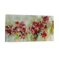 Tablou canvas 04053, Flori, panza, 30 x 90 cm