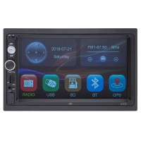 Radio media player auto PNI V7270, 4 x 50 W, 2 DIN, GPS MP5, Bluetooth, USB, MicroSD card slot, Aux in, radio FM, display 7 inch, control touch, functie Mirror Link, telecomanda