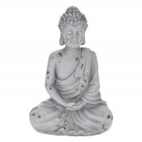 Decoratiune Buddha 252122070, ciment, gri, 20 x 12 x 30.5 cm