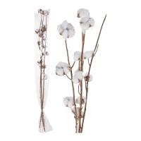 Floare de bumbac artificiala, Koopman D22700600, alb, H 90 cm