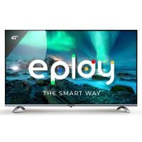 Televizor LED Smart Allview 43ePlay6100-F, diagonala 109 cm, Full HD, sistem operare Android TV 9.0, negru + argintiu