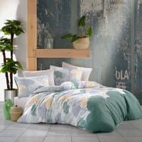 Lenjerie de pat Caressa Barbarella, 2 persoane, 100 % bumbac, cu imprimeu, 4 piese