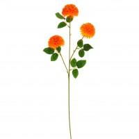 Floare artificiala RS0006, panza + plastic, galben