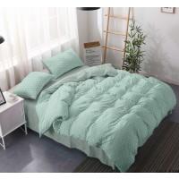 Lenjerie de pat 75A2285-5, 2 persoane, microfibra, verde, 4 piese