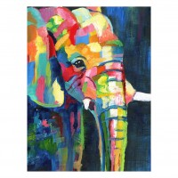 Tablou canvas Decor 04547, Elefant, panza + sasiu, 60 x 80 cm