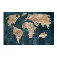 Tablou canvas Decor 04587, Harta lumii, panza + sasiu, 60 x 90 cm