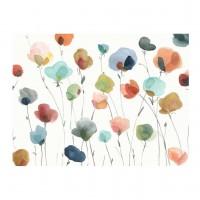 Tablou canvas Decor 04598, Flori pastel, panza + sasiu, 60 x 80 cm