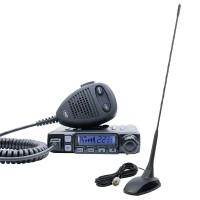 Statie radio auto CB PNI Escort HP 7120, 4 W, 12 V, ASQ reglabil, RF Gain, ecran multicolor + antena PNI Extra 48, cu baza magnetica + cablu 4 m + mufa PL259, 150 W, 0.45 m, distanta de comunicare 10 km