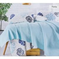 Lenjerie de pat Forte, 2 persoane, bumbac 80 %, 200 x 220 cm,  set 4 piese + cuvertura