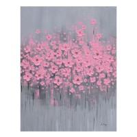 Tablou canvas 189104-7, compozitie cu flori roz, panza + sasiu lemn, 60 x 80 cm