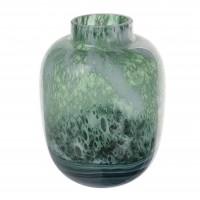 Vaza decorativa 166-63, sticla, verde + gri, H 27 cm