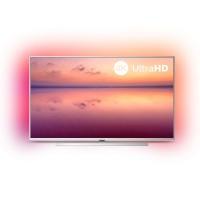 Televizor LED Smart Philips 50PUS6804/12, diagonala 126 cm, Ultra HD / 4K, sistem operare Saphi, Ambilight pe 3 laturi, gri
