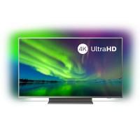Televizor LED Smart Philips 50PUS7504/12, diagonala 126 cm, Ultra HD / 4K, sistem operare Android, Ambilight pe 3 laturi, gri