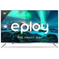 Televizor LED Smart Allview 50ePlay6100-U, diagonala 126 cm, Ultra HD / 4K, sistem operare Android TV 9.0, negru + argintiu
