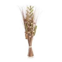 Aranjament flori uscate, AR 40159, bej natural + verde, H 100 cm