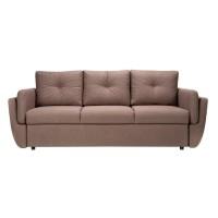 Canapea extensibila 3 locuri Blues, cu lada, maro, 235 x 95 x 95 cm, 2C