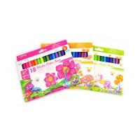 Carioci pe baza de apa, Yalong, set 18 culori
