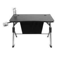 Birou gaming Nayyar, negru + gri, 110 x 75 x 60 cm, 1C