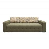 Canapea extensibila 3 locuri Olivia, cu lada, verde + model floral, 233 x 96 x 89 cm, 1C