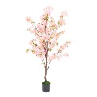 Aranjament floral artificial 1328-45, plastic, roz, 140 cm