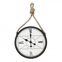 Ceas de perete YQM132, analog, rotund, metal, 37 x 6 x 77 cm