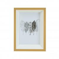 Rama foto 299-ZG-037 46, MDF, bej + alb, 10 x 15 cm